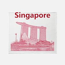 Singapore_10x10_v3_MarinaBaySandsMus Throw Blanket