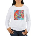 Multicolor Oak Leaf Art Women's Long Sleeve T-Shir