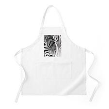 Zebra Contrast Black and White Apron
