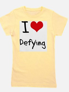 I Love Defying Girl's Tee