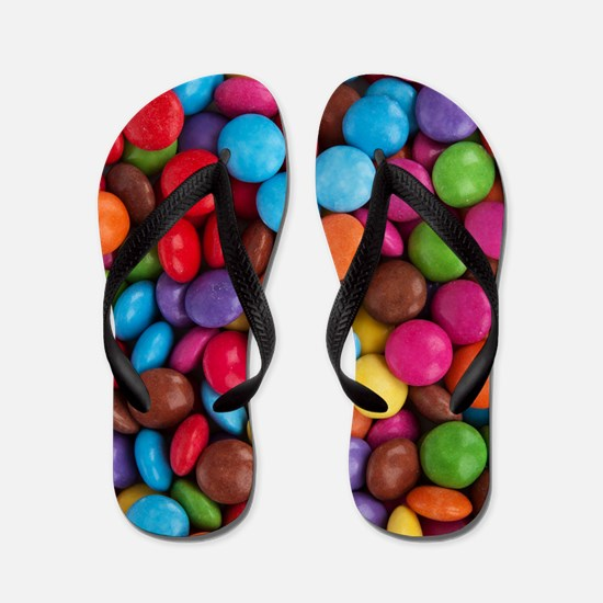 Colorful Candy Flip Flops