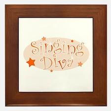 """""""Singing Diva"""" [orange] Framed Tile"""