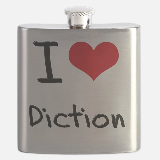 I Love Diction Flask