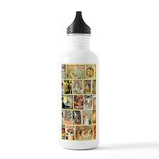 Vintage Art Nouveau Ad Water Bottle