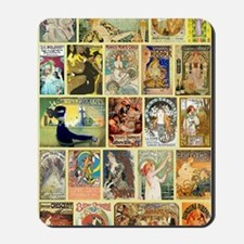Vintage Art Nouveau Advertisements Mousepad