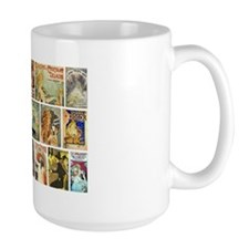 Art Nouveau Advertisements Collage Mug