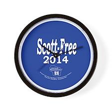 Scott-Free 2014 Wall Clock