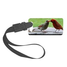 Kissing Cardinals Luggage Tag