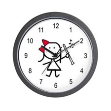 Girl & Clarinet Wall Clock