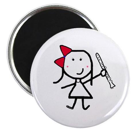 """Girl & Clarinet 2.25"""" Magnet (10 pack)"""