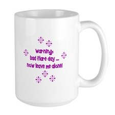 warning bad flare day mug Mugs
