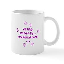 warning bad flare day mug Mugs