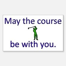 May the course be with you - G Decal
