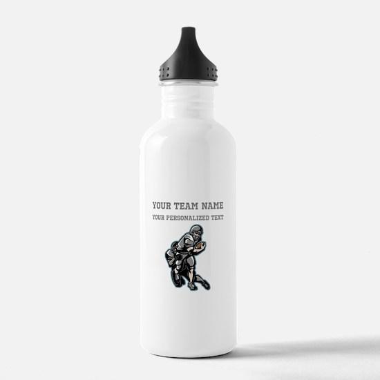 Football - Gray Water Bottle