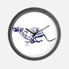 Red Dogs Rock Wall Clock