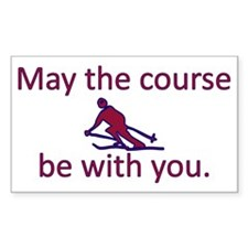 May the course be with you - S Bumper Stickers