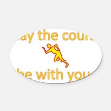 May the course be with you - RUNNI Oval Car Magnet