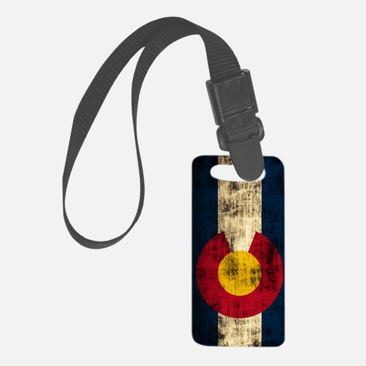 Colorado Flag Grunge Luggage Tag