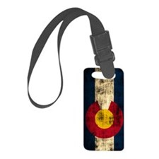 Colorado Flag Grunge Small Luggage Tag