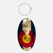 Colorado Flag Grunge Keychains