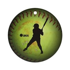 iHit Fastpitch Softball (left handed) Ornament (Ro