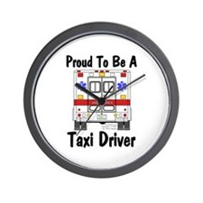 Proud To Be A Taxi Driver Wall Clock