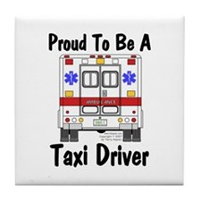 Proud To Be A Taxi Driver Tile Coaster