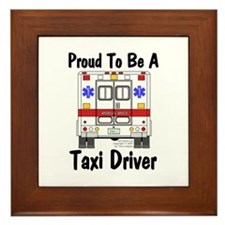Proud To Be A Taxi Driver Framed Tile