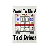 Proud to be a taxi driver Magnets