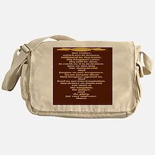 The Lords Prayer Wheat Messenger Bag