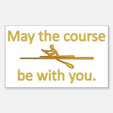 May the course be with you - R Decal