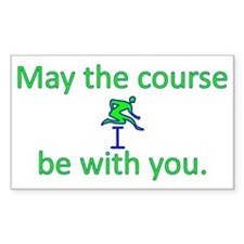 May the course be with you - T Decal