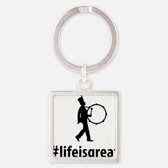 Marching-Band---Bass-Drum-06-A Square Keychain