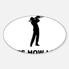 Trombone-Player-12-A Sticker (Oval)