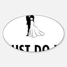 Married-08-A Sticker (Oval)