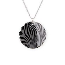 Zebra Fantasy - Gray Necklace