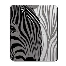 Zebra Fantasy - Gray Mousepad