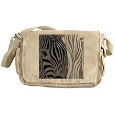 Zebra Fantasy - Gray Messenger Bag