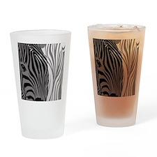 Zebra Fantasy - Gray Drinking Glass