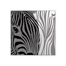 "Zebra Fantasy - Gray Square Sticker 3"" x 3"""