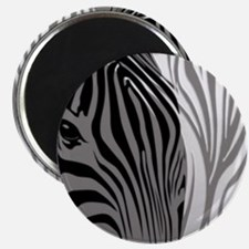 Zebra Fantasy - Gray Magnet