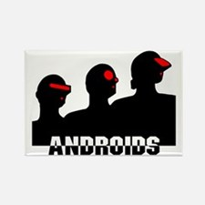 androids cyberpunk Rectangle Magnet