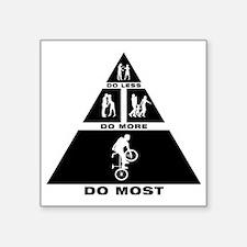 "Freestyle-BMX-11-A Square Sticker 3"" x 3"""