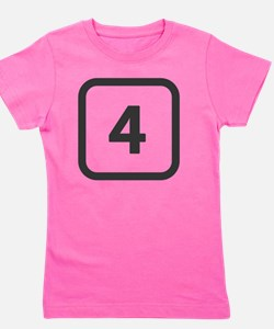 number 4 four  Girl's Tee