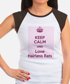Keep Calm and love Hair Women's Cap Sleeve T-Shirt