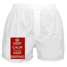 CRE Keep Calm Keep Reefing Boxer Shorts