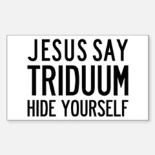 Jesus Say Triduum Church Van Rectangle Decal