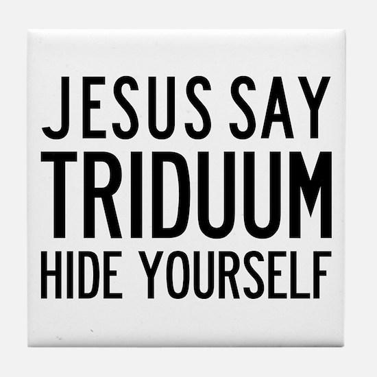 Jesus Say Triduum Art Tile Paten