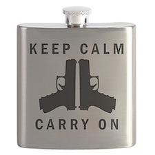 Keep Calm Carry On Flask