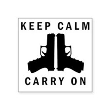 "Keep Calm Carry On Square Sticker 3"" x 3"""